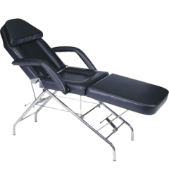 Facial Bed 201 with Stool Black