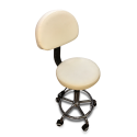 DC04-9 Stool w/Back White