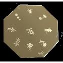 Nail Art Stamp Plate Round
