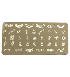 Nail Art Stamp Plate Large